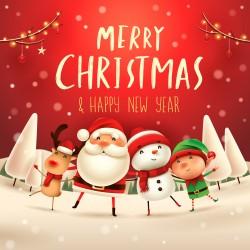 Vánoce - Merry Christmas (červená)
