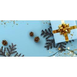 Vánoce - větvičky, vločky a dárek - čokoláda 100g (6 ks)