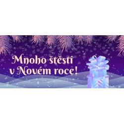 Vánoce - větvičky a dárek - čokoláda 100g (6 ks)