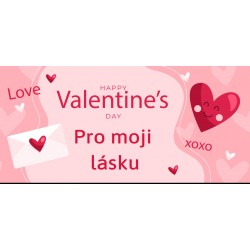 Happy Valentine`s Day 9 - čokoláda 100g (6 ks)