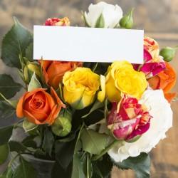 Kytice růží + kartička