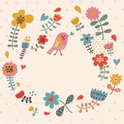 Ptáčci a květiny