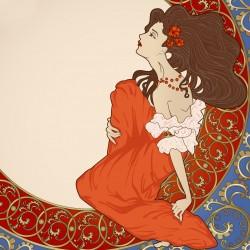Secese - dívka