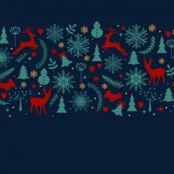 Zimní les a zvířátka