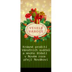 Zelená stuha s dárky - čokoláda 100g (6 ks)