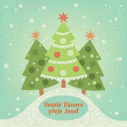 Vánoce - tři stromečky