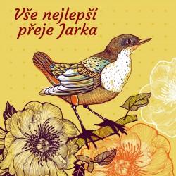 Ptáček a květy 1