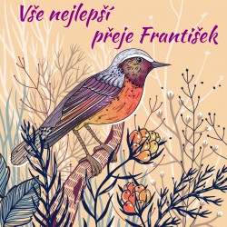 Ptáček a květy 6