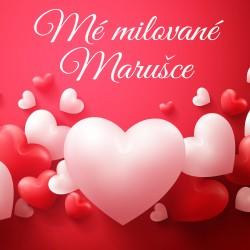 Valentýn - Červená srdce