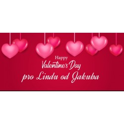 Happy Valentine`s Day 5 - čokoláda 100g (6 ks)