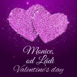 Valentýn - Fialová srdce