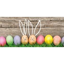 Velikonoce - vajíčka s oušky - čokoláda 100g (6 ks)