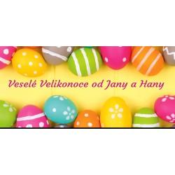 Velikonoce - barevná vajíčka - čokoláda 100g (6 ks)
