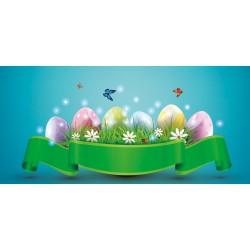 Velikonoce - vajíčka a motýlci - čokoláda 100g (6 ks)